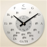 Metal Round Music Wall Clock