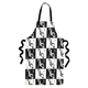 Black & White Music Notes Apron