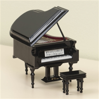 Miniature grand piano figurine with case at the music stand for Small grand piano size