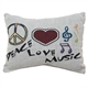 Peace Love Music Pillow