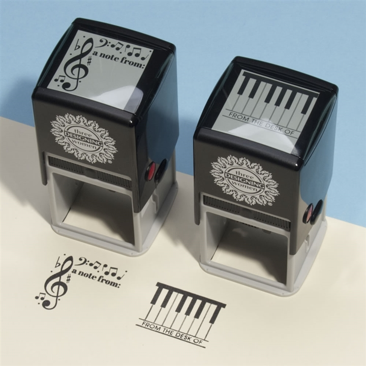 Music Notes Self Inking Stamp At The Music Stand
