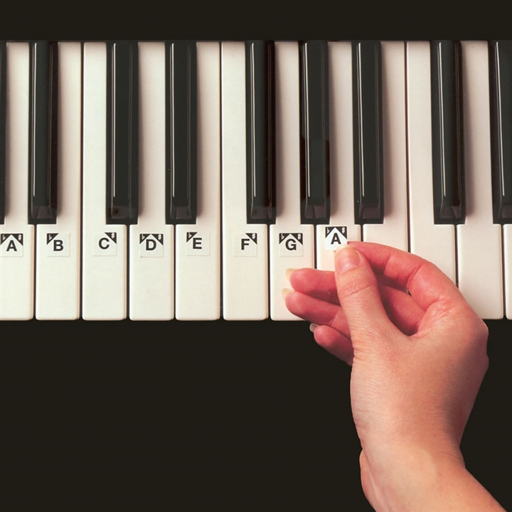 ez play piano keys stickers at the music stand