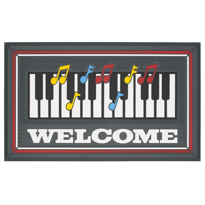 piano u0026 happy notes welcome mat
