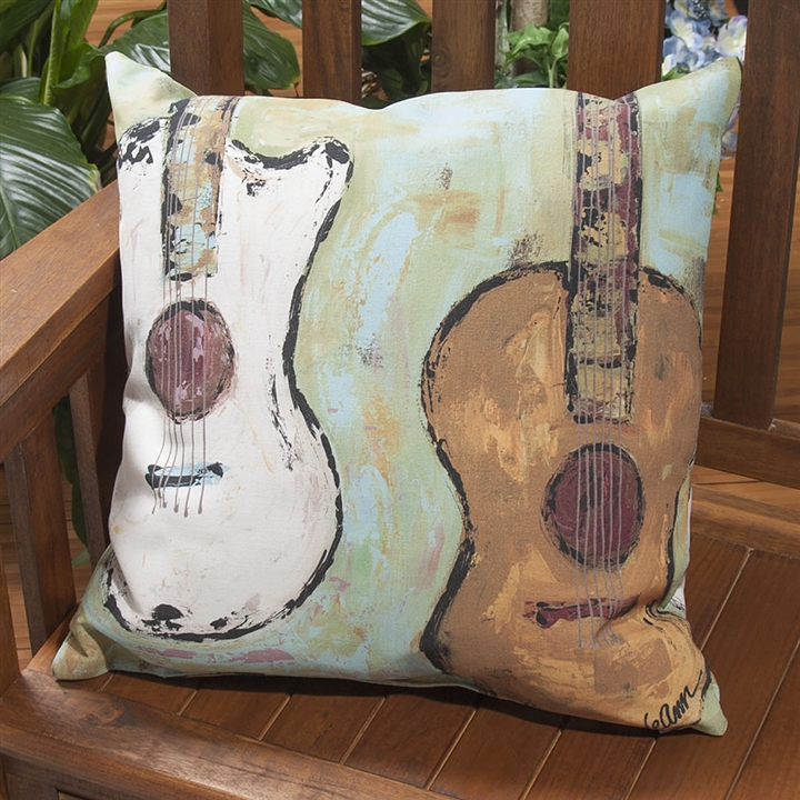Square Guitars Indoor/Outdoor Pillow at The Music Stand
