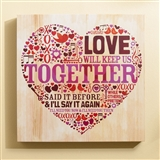Love Will Keep Us Together Wall Art