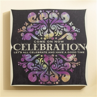 Celebration Lyrics Wall Art