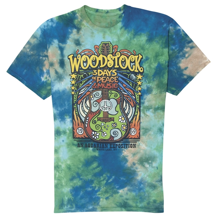 Woodstock Festival Tie-Dye T-Shirt at The Music Stand c5b0d65d5