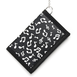 Music Notes Wallet with Chain