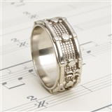 White Bronze Drum Ring