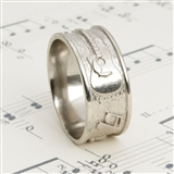 White Bronze Guitar Ring