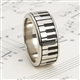 White Bronze Keyboard Ring