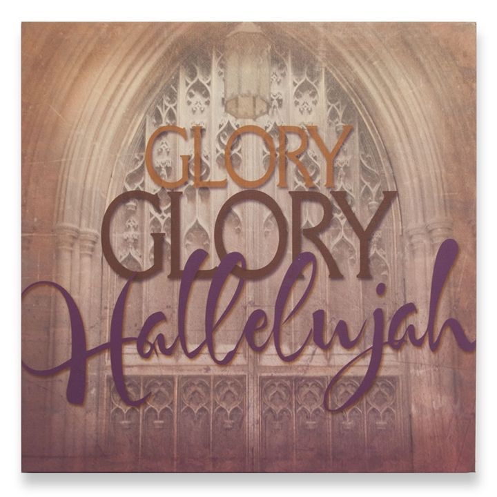 Lyric hallelujah square lyrics : Glory Glory Hallelujah Lyrics Wall Art at The Music Stand