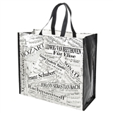 Music Collage Recycled Tote