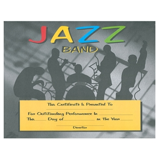 Jazz Band Certificates