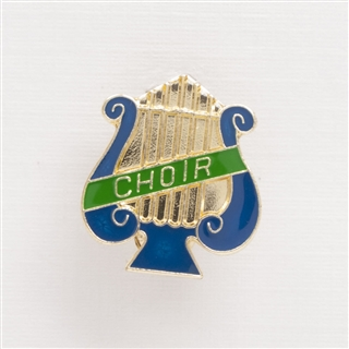 Lyre 'Choir' Enameled Pin