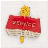 Academic Service Enameled Pin
