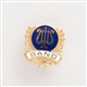 Gold Laurels & Lyre 'Band' Mini Pin