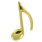 Golden Treble Clef Pin