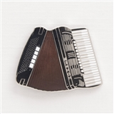 Accordion Enamel Pin