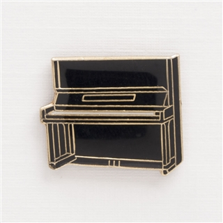 Upright Piano Enamel Pin