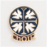 Choir & Doves Enamel Pin