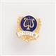 Gold Laurels & Lyre 'Choir' Mini Pin
