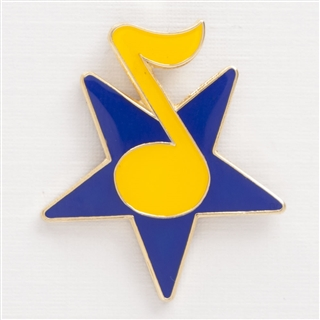 Star & Note Enamel Pin