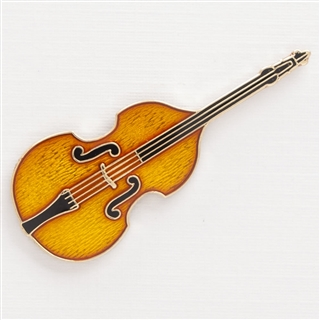 Double Bass Enamel Pin