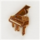 Copper Enamel Piano Pin