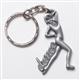 Dance Girl Pewter Keychain