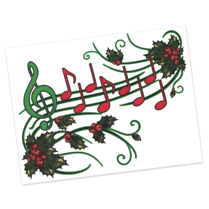 Holly/Music Staff Christmas Cards at The Music Stand