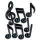 Big Three-Dimensional Music Symbol Decorations