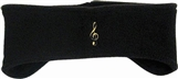 Embroidered G-Clef Headband