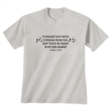 'Consort Not With a Female Musician' T-Shirt