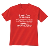 'Thank A Music Teacher' T-Shirt