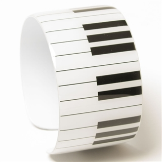 Keyboard Metal Cuff Bracelet