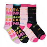 Women's 'No Music No Fun' Mid-Calf Socks