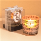 Frosted Music Tea Light Holder