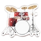 Cut-Out Drumset Magnet