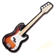 Cut-Out Bass Guitar Magnet