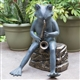 Bluesman Frog Garden Figurine With Bluetooth
