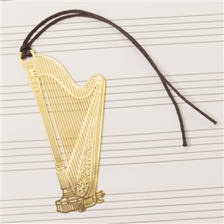 Laser-Cut Harp Bookmark