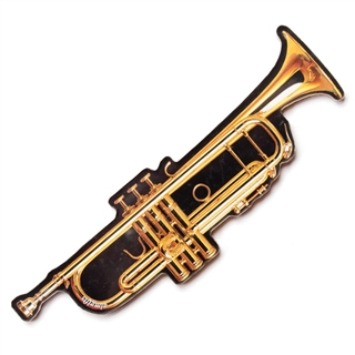 Cut-Out Trumpet Magnet