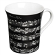Black Sheet Music Mug
