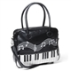 Piano Keys & Embroidery Handbag