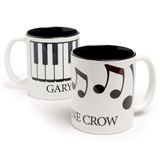 Personalized Black & White Mug