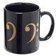 Golden Bass Clefs Mug