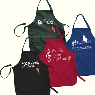 Musical Designs Chef's Apron