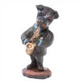 Hound Dog Saxophone Player Figurine