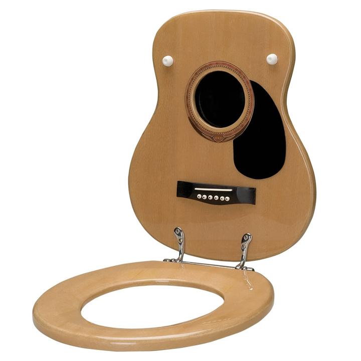 Wondrous Acoustic Guitar Toilet Seat Machost Co Dining Chair Design Ideas Machostcouk